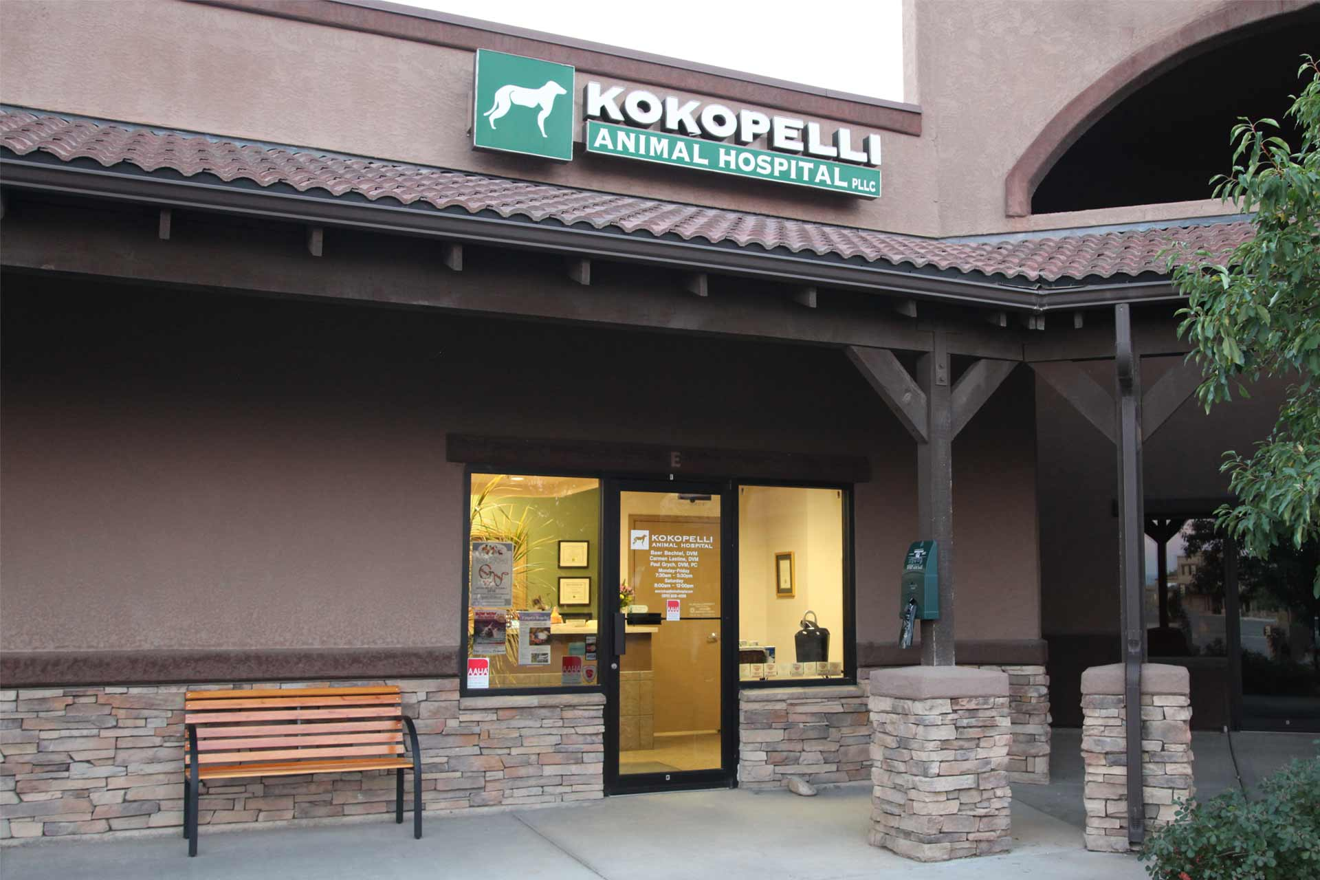 Outside Office Kokopelli Animal Hospital